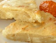 Jufka met kaas in taartvorm
